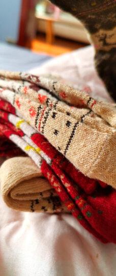 俞兆林【10双】保暖兔羊毛中筒男女长袜秋冬纯色加厚商务袜子小鹿女士10双装 均码 晒单图