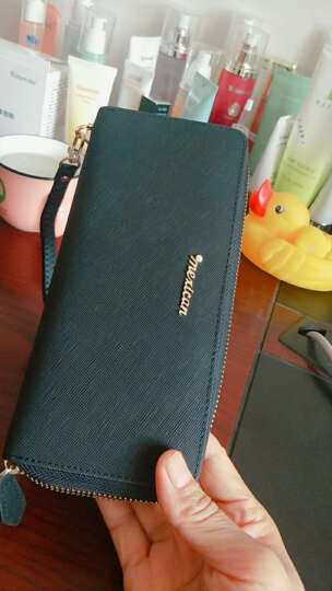 稻草人(MEXICAN)女士钱包拉链手拿包欧美时尚女式钱夹多卡位手包大容量钱夹MYH40166-01黑色 晒单图
