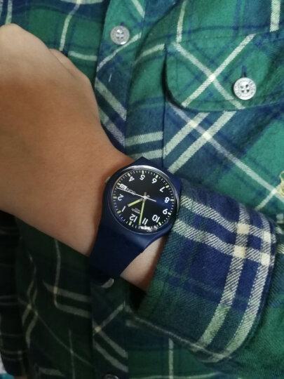 斯沃琪(Swatch)瑞士手表原创系列 双历 绅士蓝时尚运动石英学生情侣男女士表GN718 晒单图