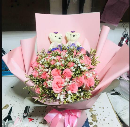 领香 情人节鲜花速递33朵香槟玫瑰花束红玫瑰礼盒女友表白送老婆生日礼物全国同城送花 11朵香槟3支百合花束 晒单图