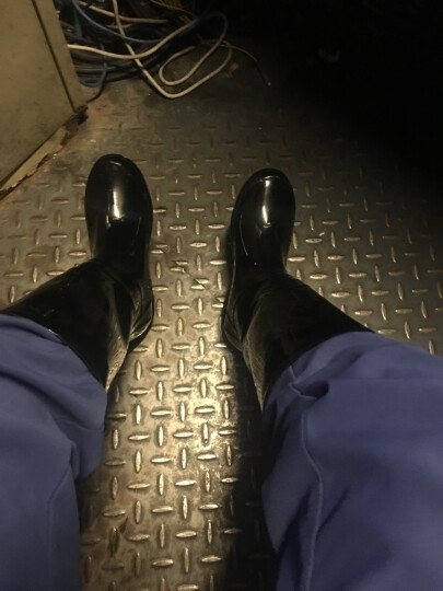 回力 雨鞋雨靴水鞋时尚高筒防滑防水胶鞋套鞋 HXL863 石斑绿 40码 晒单图