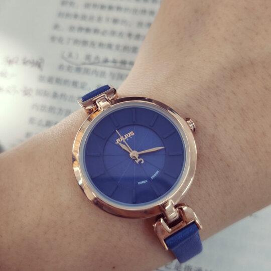 聚利时(Julius)新款皮革表带小表盘手表简约时尚薄款石英时装女表防水学生表 JA-864 宝蓝色 晒单图