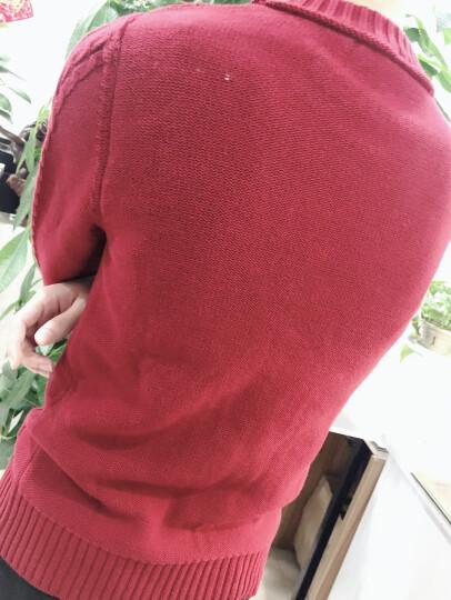 苏铭 秋冬季保暖加绒防寒毛衣男 长袖卫衣男士棉衣 修身加厚经典针织衫韩版圆领打底衫上衣 百搭新款 蓝色加绒 XL 晒单图