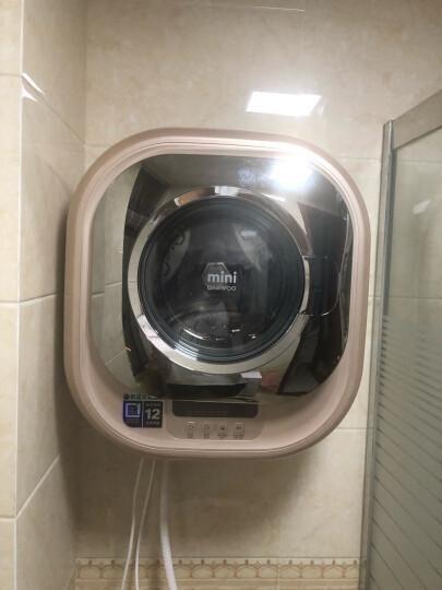大宇(DAEWOO) 原装进口小型壁挂式迷你滚筒洗衣机全自动儿童婴儿宝宝 XQG30-888G香槟金 晒单图