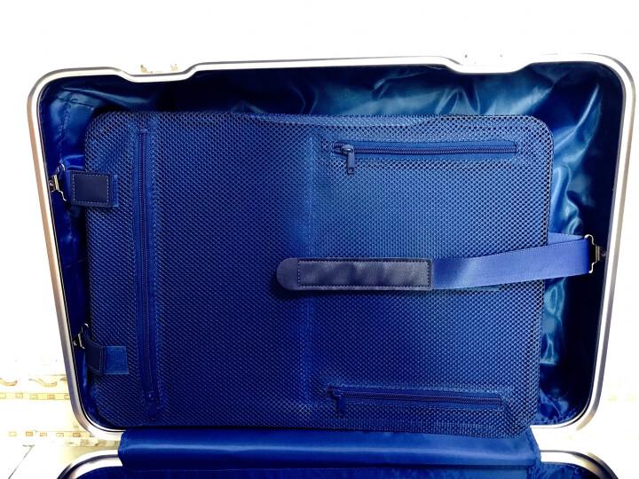 御旅全铝镁合金金属行李箱男万向轮商务拉杆箱女20寸旅行箱硬箱登机箱 钛金色磨砂经典 22英寸 晒单图