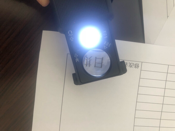 Paulone 高倍手持式光电放大镜 6倍军绿色多功能高档放大镜非显微镜 10LED灯高清阅读放大镜 1288A 晒单图