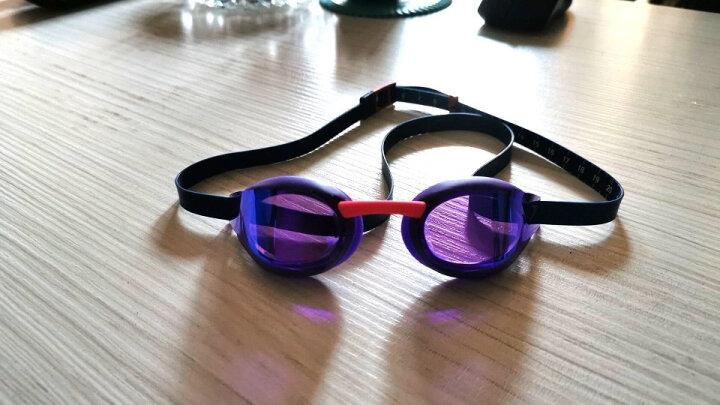 速比涛(Speedo) speedo竞速泳镜 防雾防水游泳镜 舒适游泳眼镜 男女士 奥运精英白 晒单图