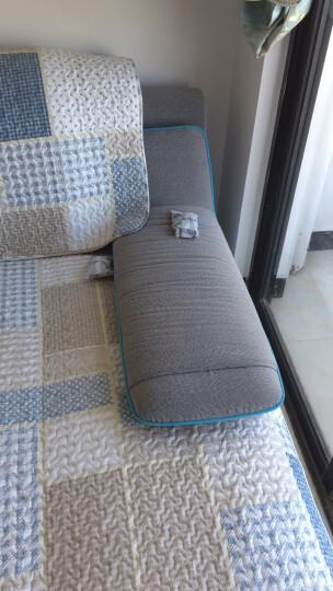 木儿家居 全棉沙发垫套装全包坐垫防滑沙发套罩巾沙发垫子布艺四季通用支持定制 g漫步绿色(水洗棉) 一片70cm宽*70cm长坐垫(可当靠背/扶手巾) 晒单图