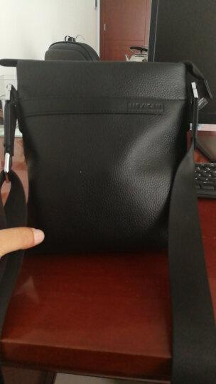 稻草人MEXICAN男士包包时尚商务男包竖款单肩包男士斜挎包头层牛皮MJX50434M-03930黑色 晒单图