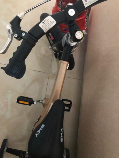 【可加长】健儿(jianer)儿童自行车男女小孩单车12/14/16寸 概念豪华款-极光黄(折叠车把双碟刹) 12寸 晒单图
