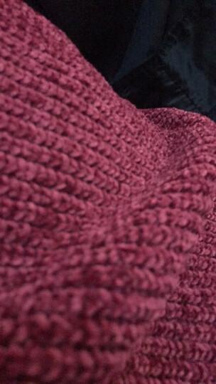提拉徒 针织衫男圆领保暖加厚套头2018秋冬季男士毛衣韩版修身休闲纯色学生长袖中年毛线衣服潮男装 黑色 3XL 晒单图