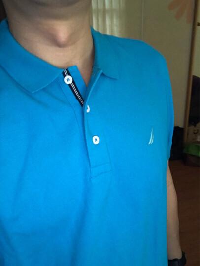 诺帝卡 NAUTICA 男士 新款 短袖针织POLO衫 KM8101(多色可选) 淡绿色 3QM M 晒单图