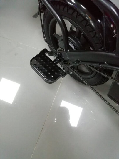 HIMIWAY嗨米 电动自行车代驾折叠电动车迷你锂电池电瓶车新国标成人小型滑板车男女单车 精英版白色 汽车动力电芯 助力约60KM 保修5年 晒单图