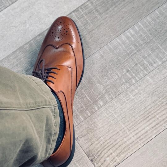 S.T.Dupont/都彭 男士商务正装布洛克雕花系带皮鞋 英伦时尚 G20244003 啡色 40 晒单图