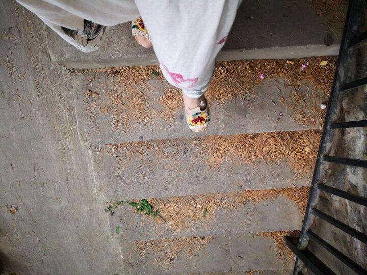 艺汇家夏季新款民族风绣花鞋 时尚特色女鞋坡跟拖鞋 蓝色 39号偏小,请选择大一号 晒单图