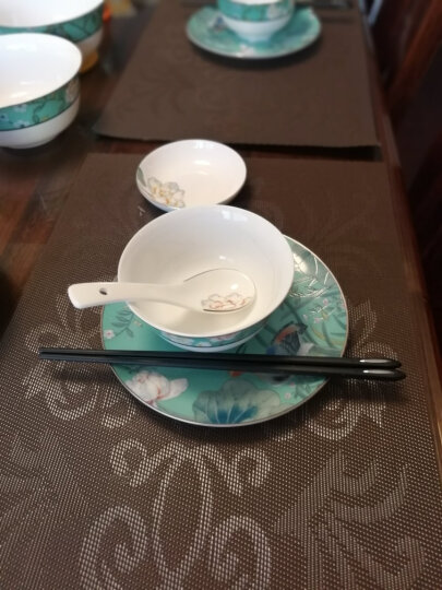 多样屋(TAYOHYA) 餐垫欧式西餐隔热垫长方形简约餐桌垫杯垫碗垫盘垫子组合装 凡尔赛-咖色 2只装 晒单图