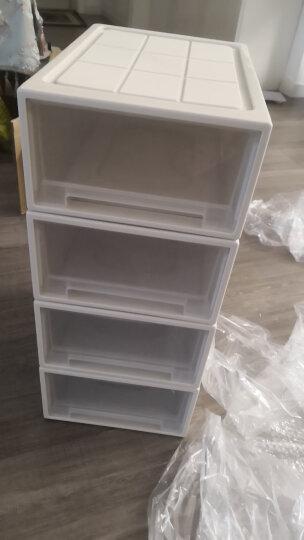 【3件7折】百露叠加收纳柜抽屉式透明内衣收纳箱衣物整理柜子箱宝宝衣柜储物 加厚中号单个 晒单图