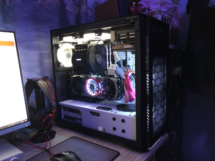 追风者(PHANTEKS) 515PTG钢化玻璃RGB电竞ATX水冷电脑机箱(支持360水冷/2把RGB神光同步静音风扇/防尘/背线) 晒单图
