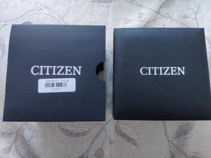 西铁城(CITIZEN)光动能深海蓝盘皮带双日历带夜光运动男表AW0024-15LB 晒单图