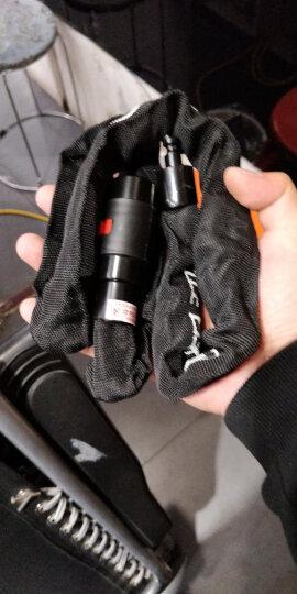 玥玛 摩托车链锁 /电动车防盗锁/ 山地自行车链条锁 超B级双面内铣槽锁芯 LK7757-1.2米(红色) 晒单图