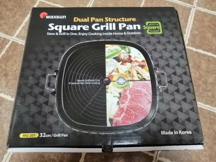 脉鲜(MAXSUN) 韩国进口麦饭石不粘烤盘韩式烤肉 hanaro方型 晒单图