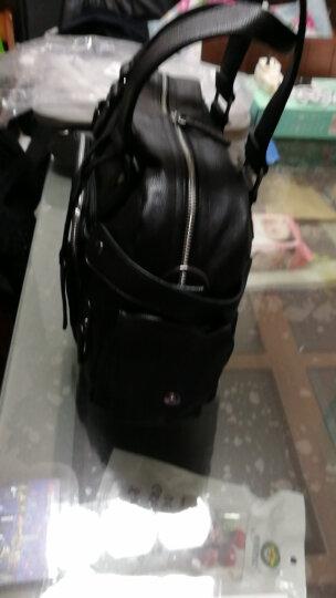 麦哲(MCGOR)男包单肩包男士休闲包韩版斜挎手提时尚潮流包A8329MG YKK刺金版(黑色小号) 晒单图