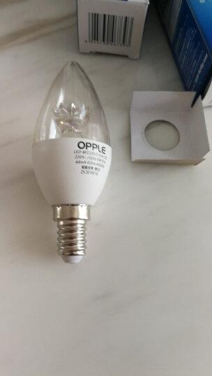 欧普照明OPPLEled灯泡 E14水晶灯泡吊灯灯泡壁灯球泡小螺口蜡烛泡螺旋 尖泡 【单只装】【E14螺口】【尖泡】【精致白】2.5W 暖白光 晒单图
