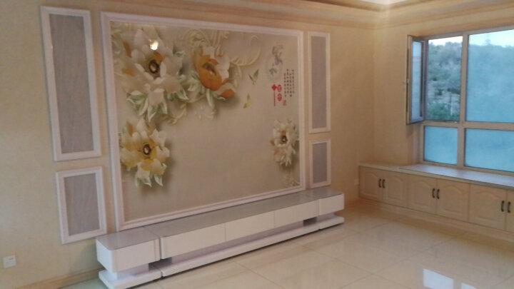 古宜 新款电视柜客厅简约现代电视机柜 中小户型电视柜套装背景墙茶几组合 钢化玻璃钢琴烤漆地柜 2米电视柜+双斗柜(白色台面) 晒单图