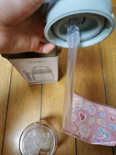 膳魔师THERMOS 儿童兔子杯夏季水杯小孩手柄吸管杯宝宝学饮杯婴儿训练杯防漏水杯 BBSC-240 PL 晒单图