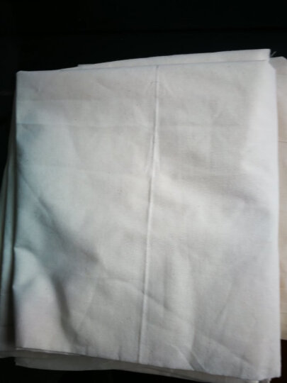 喜淘淘白坯布涤棉纯棉布料画布服装扎染白布设计立裁面料白胚布 1.6米宽中厚纯棉 晒单图