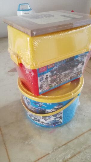 若态 儿童积木玩具 立体木质拼图 拼装模型 手工拼插积木中国茶楼小屋F131 晒单图