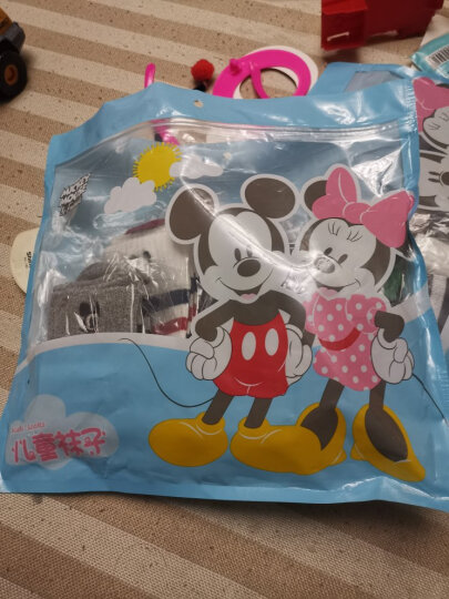 迪士尼Disney儿童袜子女童春夏网眼袜学生袜中筒童袜6双装小孩短袜 D00008 适合脚长18-20cm 晒单图