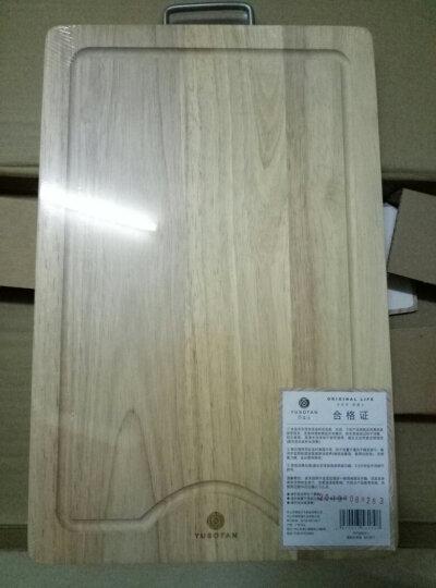 原森太 实木 菜板 木 砧板 切菜板 加厚粘板 刀板 面板 厨房家用 长方形案板大中小号 小号40×26×2橡胶木菜板2CM 晒单图