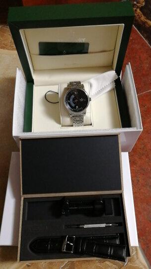 坤格(Kronsegler)德国进口手表 迷幻旋舞系列男士手表防水自动机械表 黑盘银壳黑带 KS747.H 晒单图