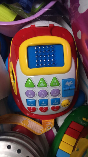 澳贝(AUBY)益智玩具儿童电子汽车电话宝宝电话玩具仿真电话机男女孩生日礼物463429DS 晒单图