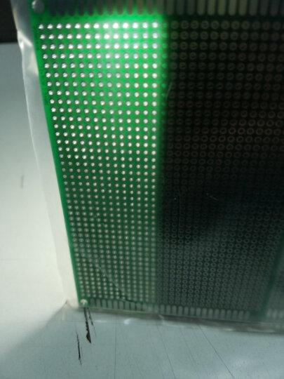 云野(yunye) 双面开发板 洞洞板 实验板 线路板 绿色PCB板 2.54间距电路板 一块 双面20X30CM 200x300mm 晒单图