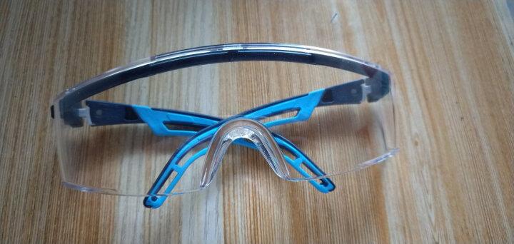 优唯斯(UVEX)护目镜透明防风沙骑行骑车摩托车打磨防飞溅劳保防尘防护眼镜男女 9064065无烟煤-蓝色 晒单图