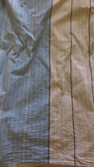 思侬纯棉老粗布床单单件加厚加密 全棉简约条纹双人 学生宿舍床单单人1.5米1.0米1.2米1.8米床 花缦 200X230cm     建议1.5m床适用 晒单图