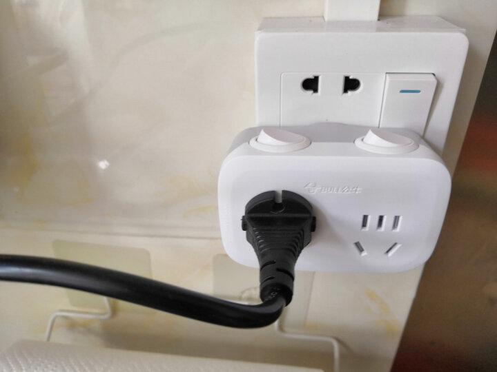 公牛(BULL)转换插头/一转二插座/无线转换插座/电源转换器 2位分控插座GN-9323 晒单图