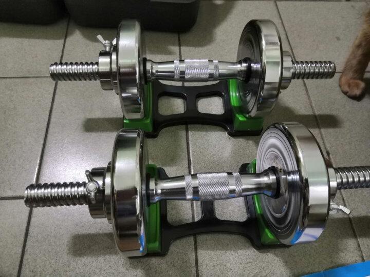 恒动力哑铃男士纯钢电镀健身家用练臂肌可拆卸组合杠铃健身器材 30KG盒装钢哑铃送对接杆 晒单图