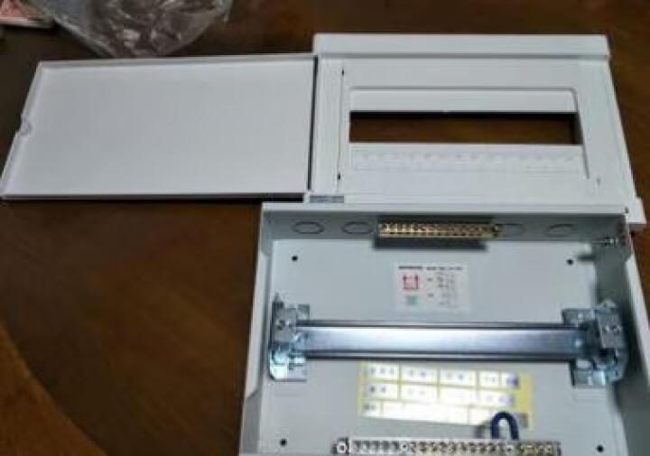鸿雁配电箱 豪华型白色配电箱柜 照明箱强电箱 15回路暗装 晒单图