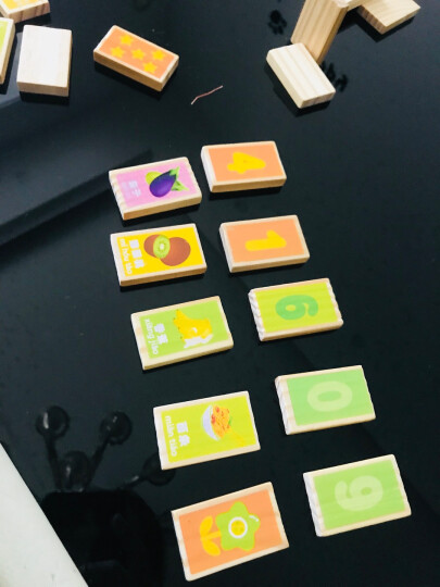 铭塔婴幼儿童益智玩具 积木多米诺骨棋牌木制质 启蒙早教智力宝宝100片盒装 晒单图