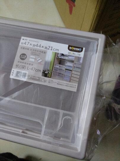 【3件7折】稻草熊抽屉式收纳柜透明塑料收纳箱衣柜储物箱衣物收纳盒儿童收纳整理箱衣柜收纳盒宝宝收纳 D1215(47*44.7*21.5cm)单个 晒单图