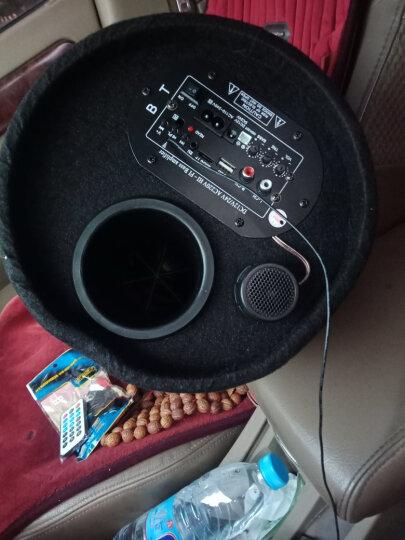 车载低音炮汽车音响12V24V摩托车无线蓝牙重低音货车改装圆筒音箱 8寸内置蓝牙收音12v24V220V 晒单图