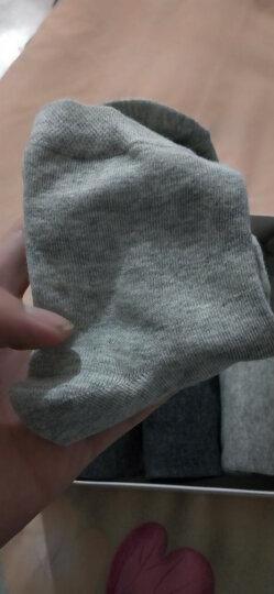 南极人10双装袜子男 男士袜子四季款棉袜 黑色5双+混色5双 均码 晒单图
