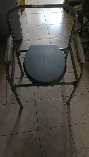 雅德 老人坐便椅残疾人坐便器老年可折叠坐厕椅孕妇移动马桶大便凳坐着上厕所凳子座便椅 YC7500灰色简易款 晒单图