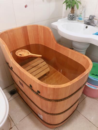 悦己坊 木桶浴桶成人浴缸橡木泡澡桶浴盆澡盆实木养生家用小户型洗澡桶浴缸 120cmX58cmX78cm 晒单图