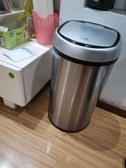 得力(deli)12L不锈钢免脚踏自动感应垃圾桶 加厚静音圆纸篓 办公用品 垃圾分类 银色9559 晒单图