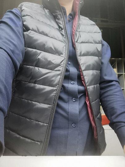 【MOZ】棉马甲男2020秋冬季新款保暖背心棉坎肩男品质修身纯色坎肩男 棉马甲18056#军绿 XL 晒单图