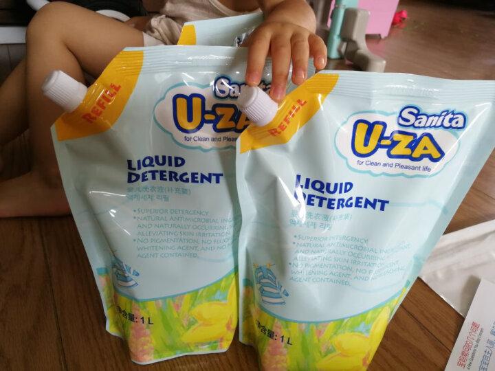 U-ZA  婴儿幼儿洗衣液-补充装 新生儿宝宝儿童 韩国 进口洗衣液 uza皂液 1000ml 植物洗护 晒单图